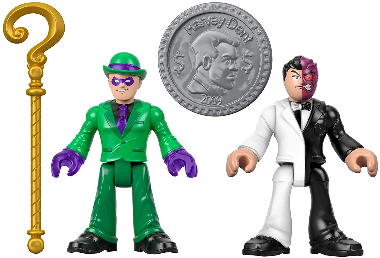 Imaginext DC Super Friends Tekli Figürler - The Riddler & Two Face GBL90 M5645