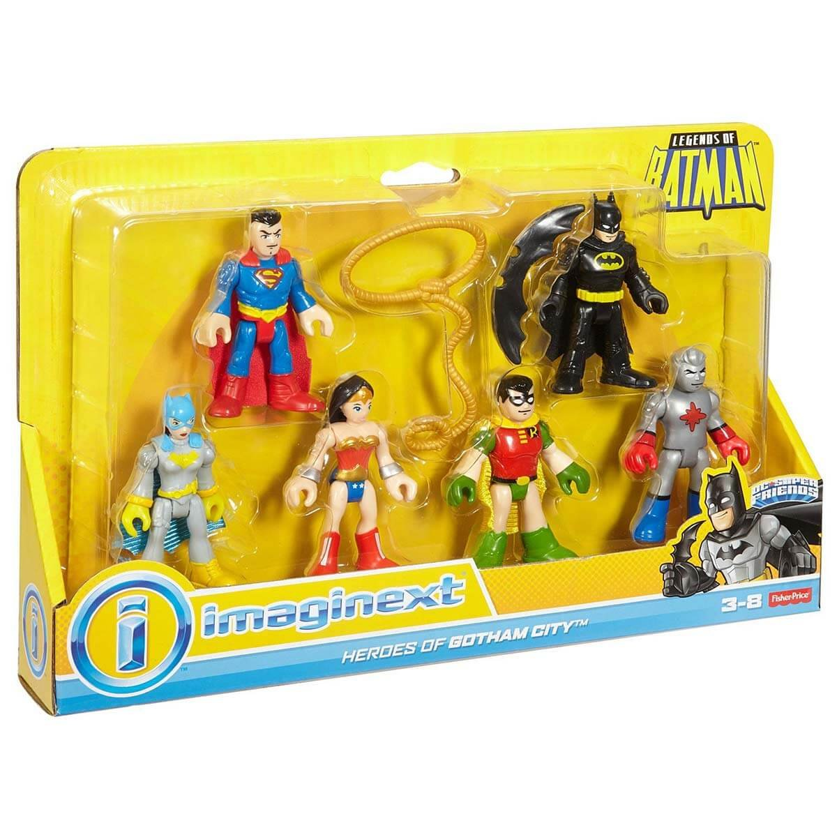 Imaginext DC Süper Friends Batman Efsane Karakterler - Heroes Of Gotham City FGC44 FGC43